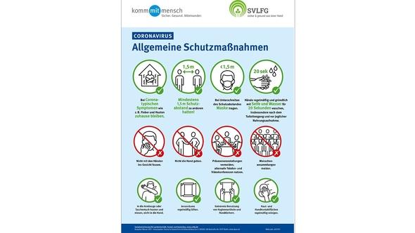 Corona Plakat - Allgemeine Schutzmaßnahmen
