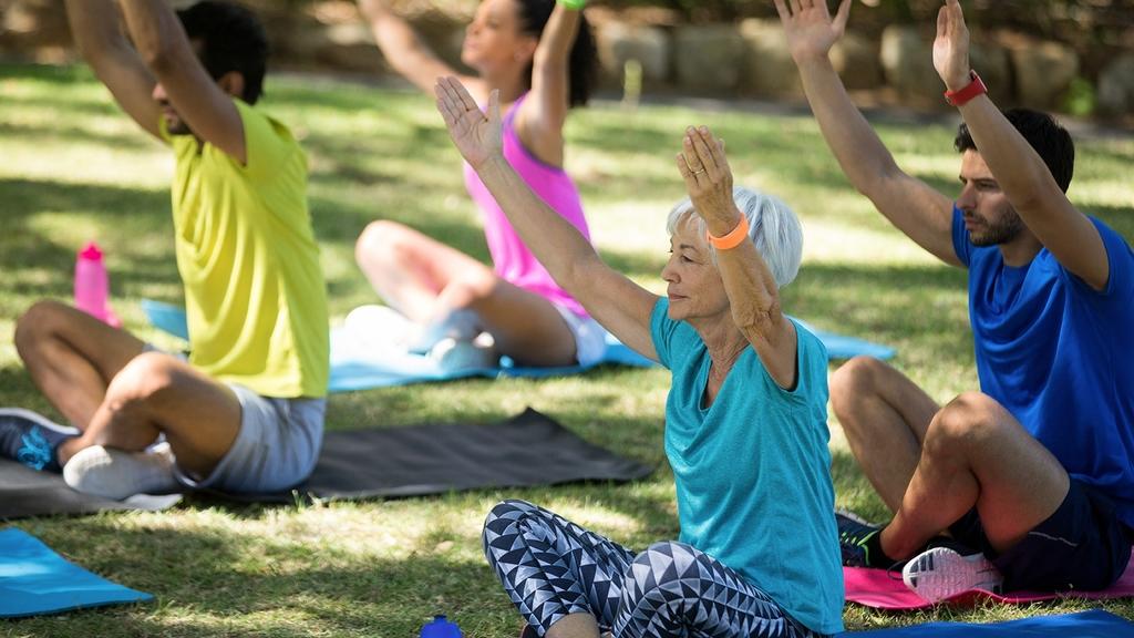 Yogagruppe