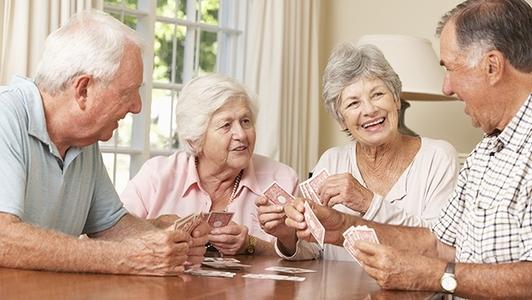 Senioren in Wohngruppe