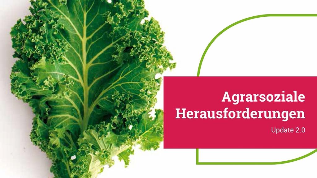 """Deckblatt der Broschüre """"Agrarsoziale Herausforderungen Update 2.0"""""""