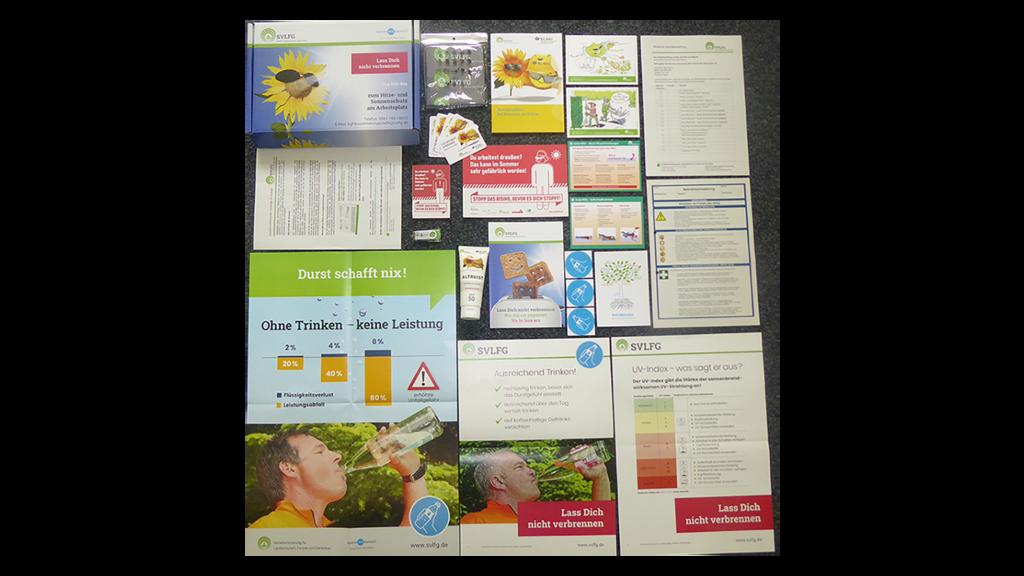 Inhalt der SVLFG-Infobox zum Hitze- und Sonnenschutz