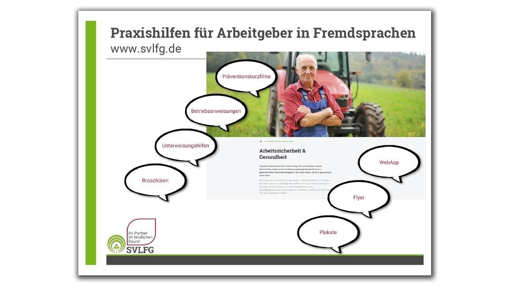 """Infografik """"Praxishilfen für Arbeitgeber"""""""