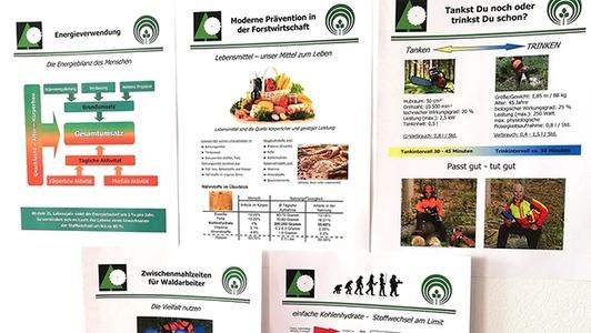 Plakate zur gesunden Ernährung an der Wand